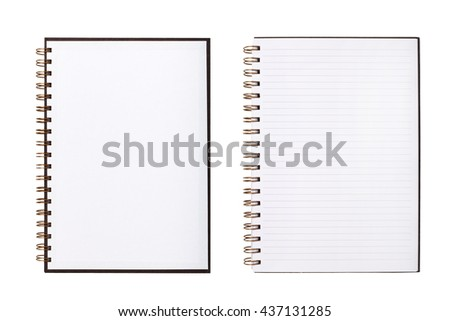 Blank notebook or notepad with line paper - stock photo