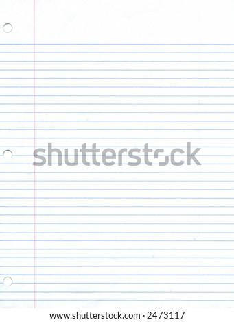 Blank Notebook Paper Sheet - stock photo