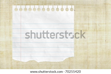 Blank notebook paper with line on the wooden background