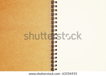 blank notebook recycle paper open two page with copy space area for multipurpose use as a background picture - stock photo