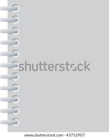 Blank notebook useful for designe backgrounds. - stock photo