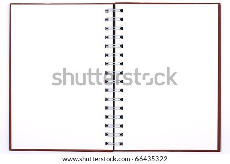blank notebook & white paper for take notes