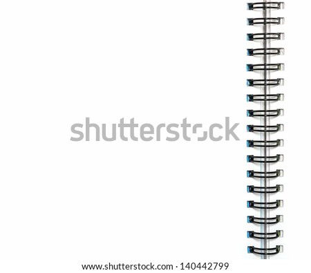 blank notebook with clipping path