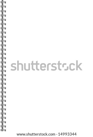 Blank Notepad - stock photo