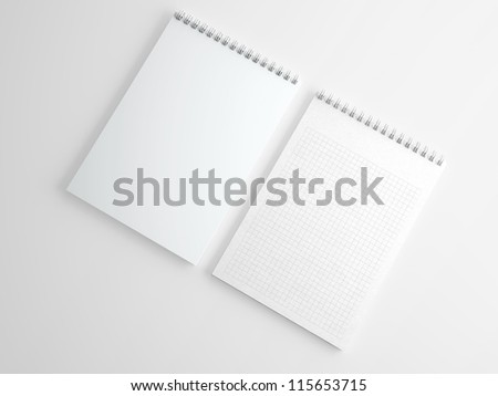 Blank notepad isolated on white - stock photo