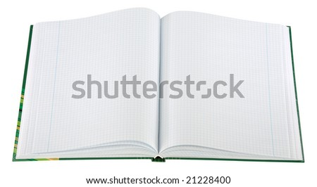 Blank Notepad isolated. Ready for your message.