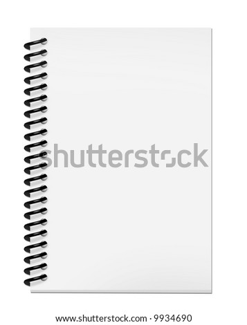 Blank notepad with clipping path isolated on white background