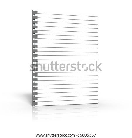 Blank notepad with spiral binding