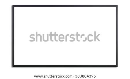 blank of led cinema display isolated on white background - stock photo