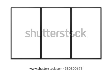 blank of vertical flat screen for keying any promotion of display - stock photo