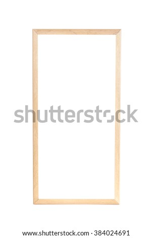 Blank of wooden frame isolated on white background - stock photo