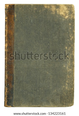 Blank old book cover, isolated. - stock photo