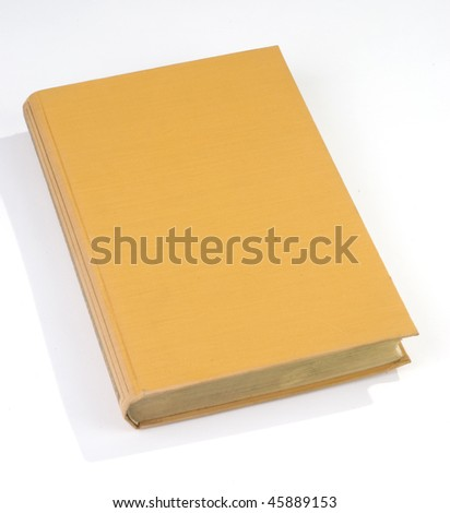Blank old book cover yellow - stock photo