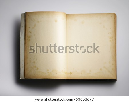 blank old book on the plain background - stock photo