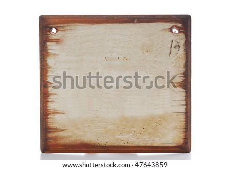 blank old message sign - stock photo
