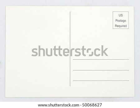 Blank Old Postcard - stock photo