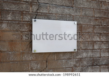 Blank old signs on the wall texture - stock photo