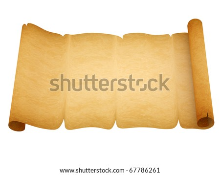 Blank old style sheet of paper with uneven edges isolated on white background - stock photo