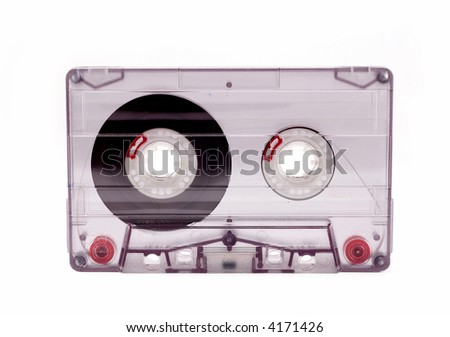 blank old tape isolated on white