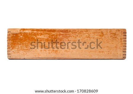 blank old wooden box isolated on white  - stock photo