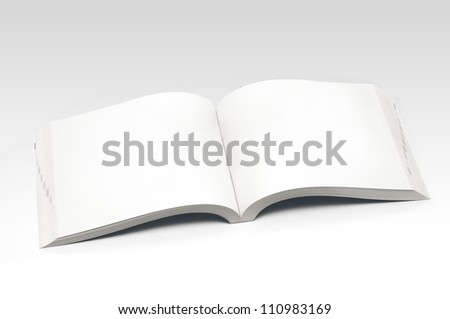 Blank Open Book - stock photo