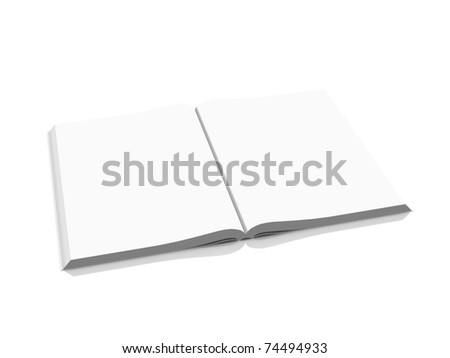 blank open book isolated on white background - stock photo