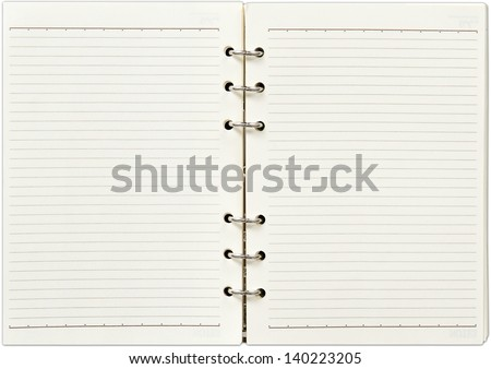 Blank open notebook - stock photo
