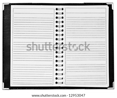 Blank open notepad - stock photo