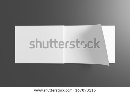 Blank opened Catalog / Brochure on dark background for your design