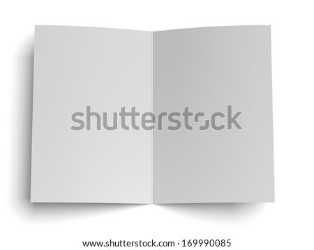 blank opened paper - stock photo