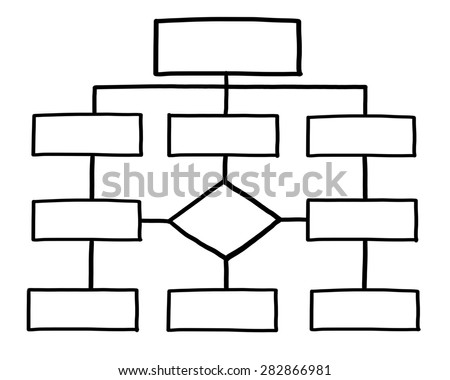 Blank Organization Chart Isolated On White Stock Illustration