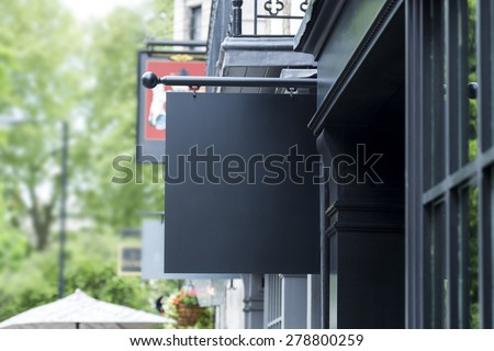 Blank outdoor sign of restaurant  - stock photo