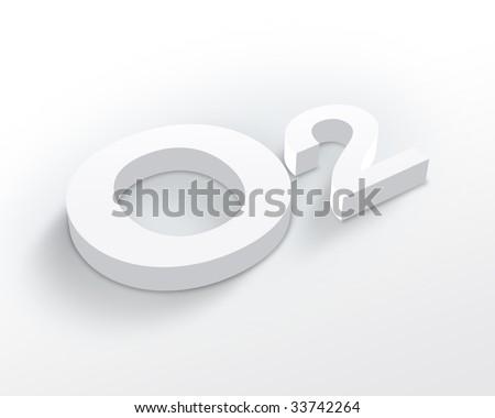 Blank Oxygen symbol - stock photo