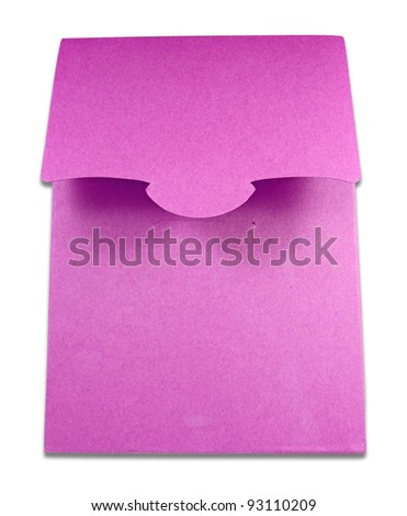 Blank package of pink box isolated on white background - stock photo