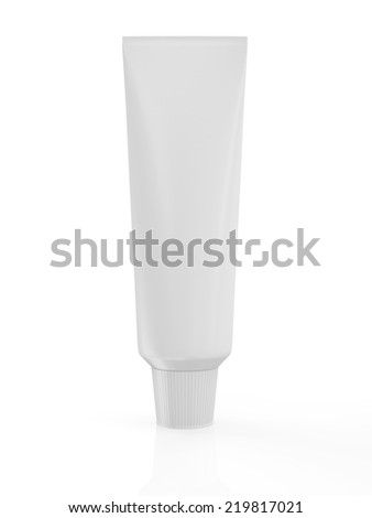 Blank Package Tube isolated on white background