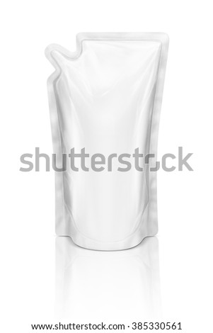 Blank packaging refill pouch ready for product design isolated on white background
