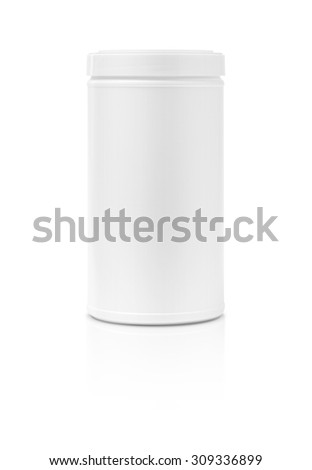 blank packaging tube shape isolated on white background