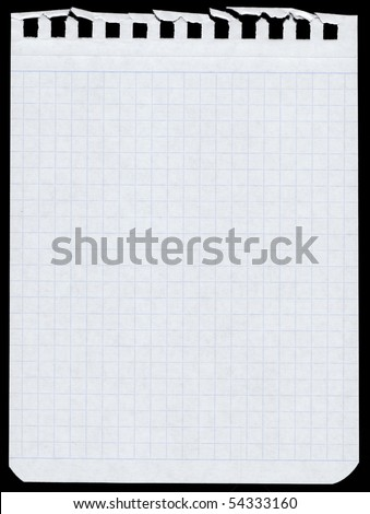 blank page - isolated on black - stock photo