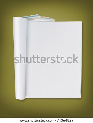 blank page of magazine. ready for design - stock photo