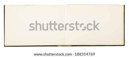 blank page of note book,  isolated on white. - stock photo