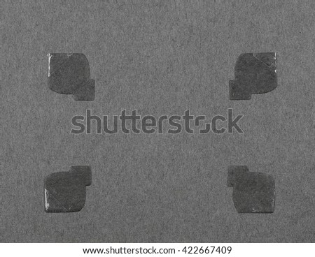 Blank page old photo album - stock photo