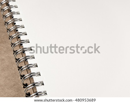 Blank page white paper of Note Book