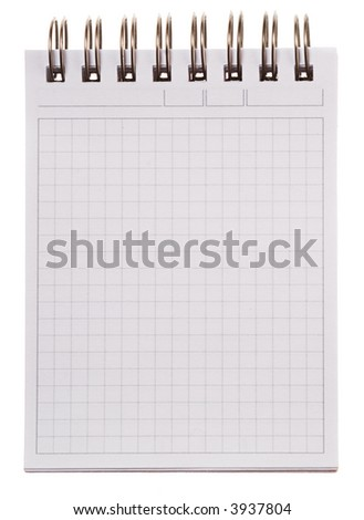 Blank page [with clipping path] - stock photo