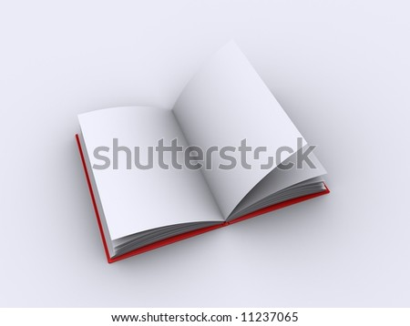 Blank pages in an open book - stock photo