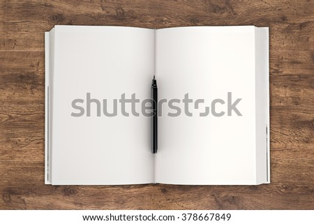 blank pages notebook illustration - stock photo