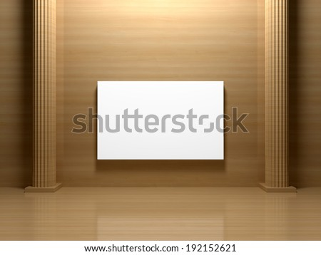 Blank painting on the wall  - stock photo