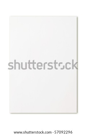 blank paper - stock photo