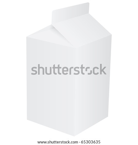 Blank paper carton for milk or fruit juice - stock photo