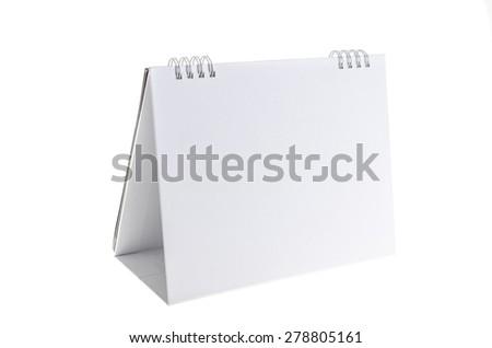 Blank paper desk spiral calendar - stock photo
