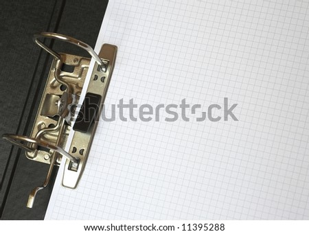 Blank Paper in File - stock photo